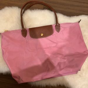 👜Longchamp Le Pliage Large Tote Pink